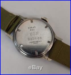Vintage Military Longines Wristwatch. USN Buships. 10L (10.68N)