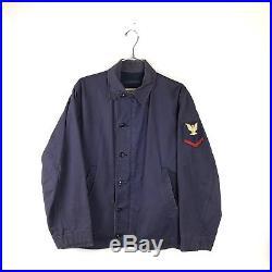 Vintage N4 N-4 1950s US Navy USN SUBMARINE Blue Deck Jacket Size Medium 44