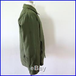 Vintage Original Usn A-2 A2 Deck Jacket Cold Weather 1975 Large Va-174 Cecil