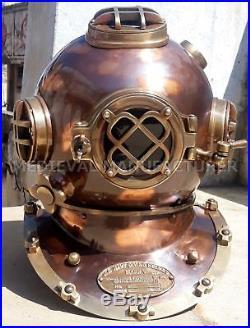 Vintage Replica U. S Navy Antique 18 Diving Helmet Mark V Deep Sea Divers Helmet