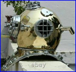 Vintage Scuba Morse Copper Diving Helmet Maritime Boston Divers Navy Mark Divers