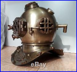 Vintage Scuba U. S Navy Mark V 18 Replica Antique Diving Helmet gift