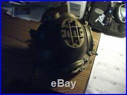 Vintage U. S Navy Diving Divers Helmet Mark V Brass and Copper Finish 1941
