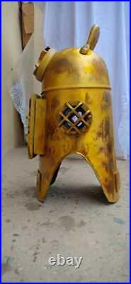Vintage U. S Navy Diving Divers Helmet Solid Steel Full Size 18 Diving Hood gift