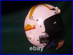 Vintage U. S. Navy Pilot Flight Helmet, Size Medium
