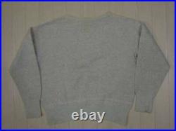 Vintage US ARMY sweat shirt soaked military USN RRL NAVY Men's L Super Rare Item