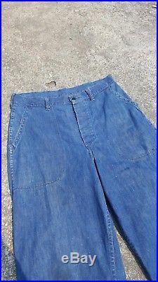Vintage US Navy Denim WWii Dungarees Pants