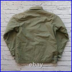 Vintage US Navy USN A-2 Deck Jacket Size M L Military Mint YKK