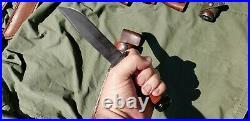 Vintage USN MARK 1 Camillus WW2 Fighting Knife with Leather Sheath