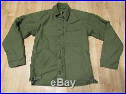 Vintage USN US Navy A-2 Deck Jacket Cold weather field coat