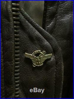 Vintage VIETNAM ERA G-1 LEATHER FUR COLLAR BOMBER JACKET US NAVY FLIGHT USN