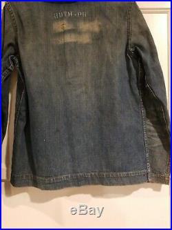 Vintage WW2 USN Shawl Collar Denim Shirt