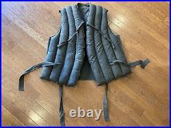 Vintage WWII US Coast Guard Kapok Life Preserver Vest Blue Deck Jacket US Navy