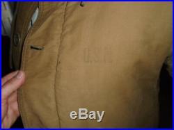 Vintage WWII US Navy Foul Weather Hooded Deck Coat Fur Lined 0 119
