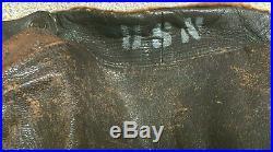 Vintage WWII US Navy G-1 Leather Flight Pilot Bomber Jacket USN WW2