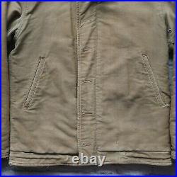 Vintage WWII USN US Navy Military N-1 Deck Jacket 40s NXSX Coat USAF