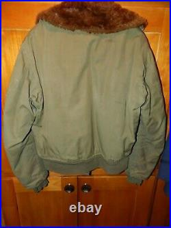 Vintage WWII USN US Navy Military N-1 Deck Jacket, OLIVE DRAB, FULLY LINED