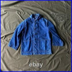 Vintage WWII WW2 1940's US Navy USN Shawl Collar Jacket Denim