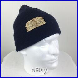 Vintage Wwii Named Beanie Watch Cap Usn Deck Hat Supply Office Original Wool