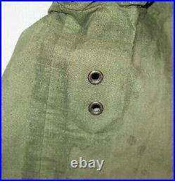 Vtg 1940's WWII USN NXsX Foul Weather Deck Hooded Parka Jacket Rare Medium Navy