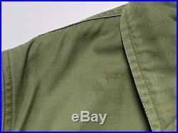 Vtg 1960s US Navy A-2 Deck Jacket M USN Vietnam War OD Work Wear STENCIL A2 n1