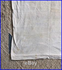 Vtg Merchant Marines T-shirt Stencil WWII Academy US Navy USN Army 1940s Flock
