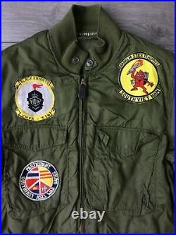 Vtg US Navy WEP Jacket Vtg Vietnam Pilot Jacket USN Vtg Flight Jacket Patches