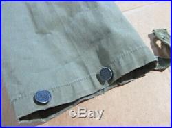 Vtg WW2 USN Military Parka Clasp Up Pullover Anorak Rain Jacket Poncho Sz. Med