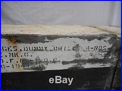 WORLD WAR II WWII 3 WOODEN DUMMY CARTRIDGE (4) 1943 NAVY HMC MK 6 50 CAL WithCASE