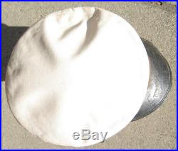 WW1 US Navy Warrant Officer Visor Bell Crown Hat White
