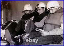 WW2 American M1 Medics Helmet CIRCA 1944 Includes 1944 Liner U. S Army U. S Navy