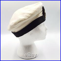 WW2 Navy Nurse Corps NNC White Summer Hat Complete Womens Knox