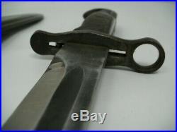 WW2 Original 1942 AFH US M1 Garand Bayonet & USN MK1 Scabbard 15 15/16 BLADE