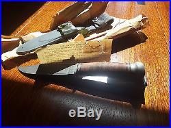 WW2 PAL RH35 MARK I USN Fighting Knife- gray scabbard-MINT in orig paper wrap
