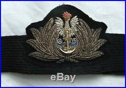 WW2 Polish Officers Navy hat badge
