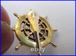 WW2 RARE 14k SOLID GOLD USS LST-39 USN NAVY SHIP LAUNCH TAG PIN MEDAL ENGRAVED