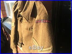 WW2 Royal Marines 1940 Pattern Battledress Blouse Dog Tags 1944 Navy Army Superb