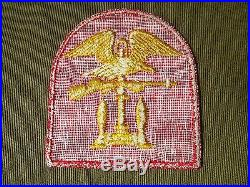 WW2 US Navy Naval Amphibious Forces Patch on Twill Rare Variation USN