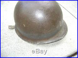 WW2 USN Beach Helmet Named