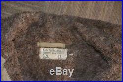 WW2 USN Heavy Deck Jacket/Parka. Rubberized fabric. SZ 38 regular
