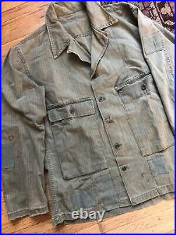 WW2 USN US Navy HBT Shirt Jacket
