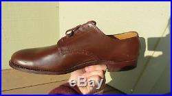 WW2 USN US Navy Low Quarter Pilot Officer Brown Russet Dress Shoes MINT
