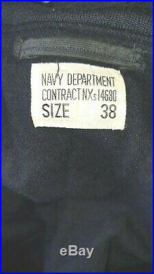 WW2 vintage deck jacket US NAVY