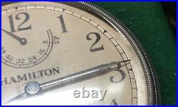 WWII 1942 Hamilton Bureau Of Ships U. S. Navy Chronometer Watch Model 22