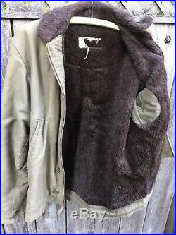 WWII NAVY DECK JACKET N-1 USN COAT US WW2 1940s SIZE 38 MILITARY STENCILED