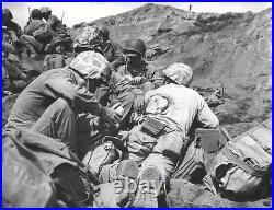 WWII U. S. NAVY CORPSMAN PHARMACISTS MATE 1st CLASS TROPICAL SHIRT 1st MAR. DIV