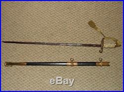 WWII U. S. Naval Officer's M1852 USN Dress Sword Hilborn & Hamburger Inc. NY
