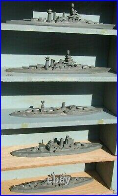 WWII U. S Navy ID Recognition ship box set-Comet South Salem model 35ships 11200