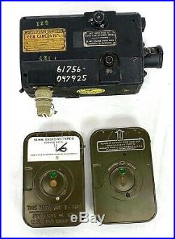 WWII US Navy 16 MM Type N-6A Aircraft Gun Camera