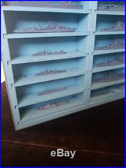 WWII US Navy Recognition Miniature Models Mark 1 British Ships 28 With Case